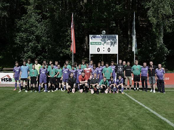 FC Erzgebirge Aue B zu Gast, 100 Jahre Fussball in Thalheim