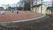 01.03.17: Einbau der Rinnsteine