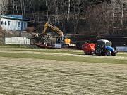 Rasenrenovation im Waldstadion