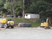 Baubeginn des Kanalbaus im Waldstadion