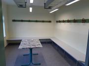 Endlich ! Fertigstellung Umkleidetrakt Sportlerheim in den letzten Zügen