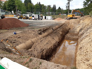 Kanalbau nähert sich dem Waldstadion